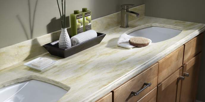 Trend corian uses application details - How to decorate a bathroom counter ...